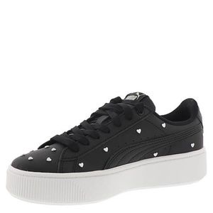 Puma Shoes - PUMA Vikky Black Stacked  Silver Studs Sneakers